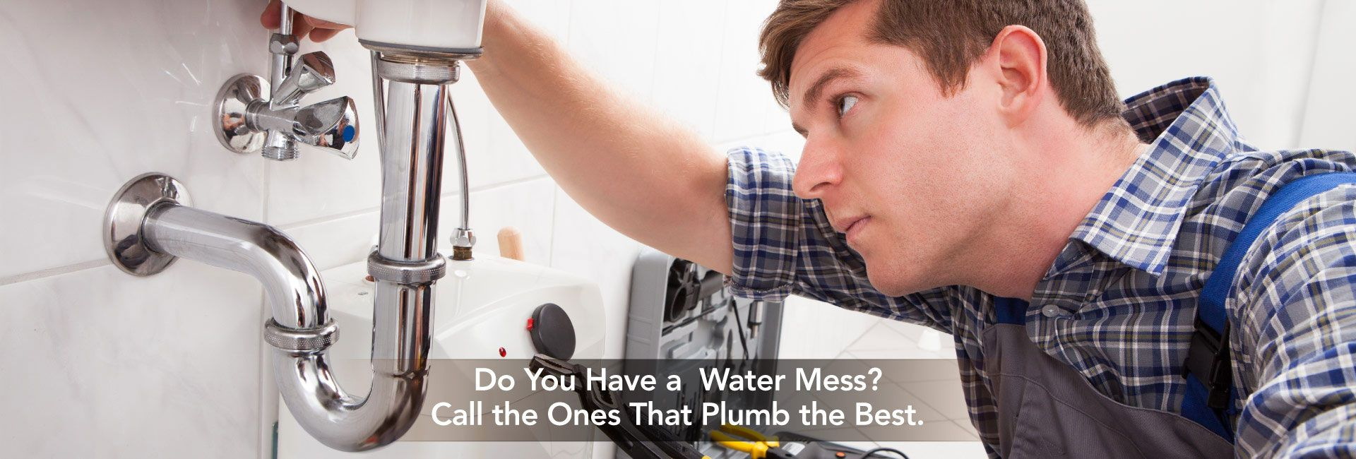 Do You Have a Water Mess? Call the Ones That Plumb the Best. | Plumber repairing the bathroom sink